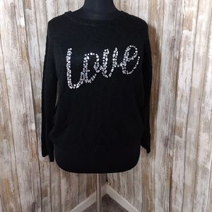 Cato Black Love Sweater
